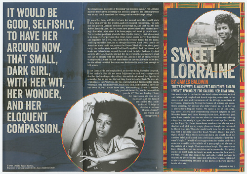 Image for Playbill for A Raisin in the Sun with insert essay 'Sweet Lorraine'