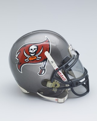 Tampa Bay Buccaneers helmet worn by Warrick Dunn