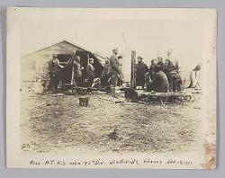 Mess- M.T.R.S men 92nd Div. - Belleville, France Nov. 17, 1918