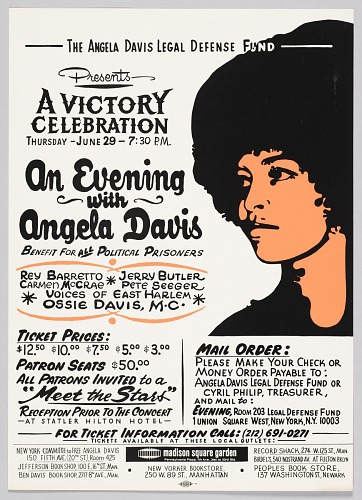 Image for Flyer Advertising an Evening with Angela Davis