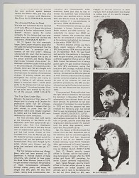 Article page describing a trial of South African Activists