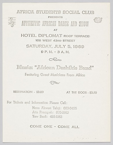 Image for Flyer Advertising an African Dance and Show