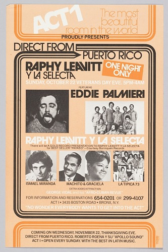 Image for Flyer advertising a concert featuring Raphy Leavitt y La Selecta