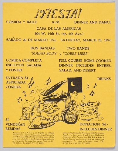 Image for Flyer advertising a dinner and dance