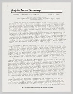 Newsletter discussing events in Angola