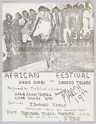 Image for Flyer advertising an African Festival featuring Asuo Gyebi and Jbofoj Tegare