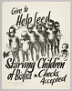 Thumbnail for Flyer advertising a donation drive to help the starving children in Biafra