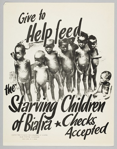 Image for Flyer advertising a donation drive to help the starving children in Biafra