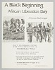 Thumbnail for Flyer announcing a demonstration on African Liberation Day