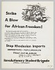 Thumbnail for Flyer advertising protest against Rhodesian imports