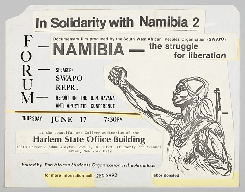 Image for Flyer advertising a forum and film showing on Namibia