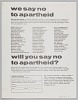 Thumbnail for Flyer soliciting pledges to stand against South African Apartheid
