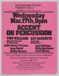 Flyer advertising an evening of jazz at NYU Loeb Student Center