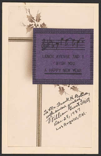 Image for Holiday card from William Grant Still