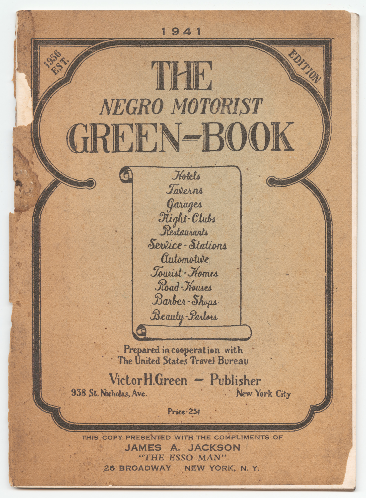 Negro Motorist Green-Book, 1941