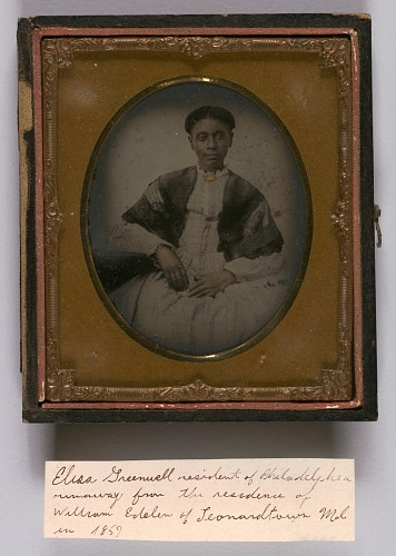 Image for Ambrotype of Elisa Greenwell with handwritten note
