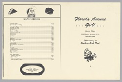 Menu from the Florida Avenue Grill restaurant