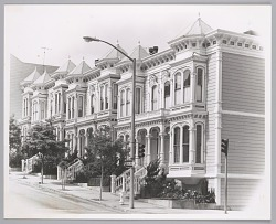 Row of victorian houses in the western addition of San Francisco, c. late 1960's
