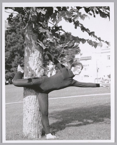 Image for Modern dancer in the park, name unknown, c. 1970s