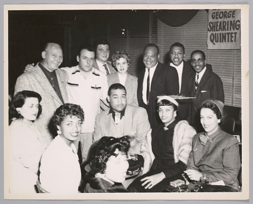 Image for Joe Louis with wife and others, mid-1950s