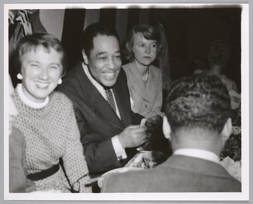Image for Duke Ellington with Bop City patrons, c. mid 1950s