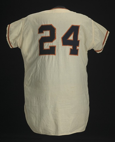 Image for San Francisco Giants spring training jersey worn and signed by Willie Mays