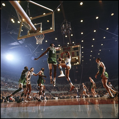 Image for Bill Russell and Elgin Baylor, LA, 1965