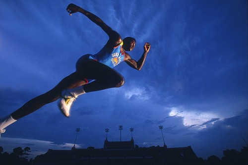 Image for Carl Lewis, Houston, 1991