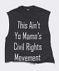 Thumbnail for T-shirt worn by Rahiel Tesfamariam at a protest commemorating Michael Brown