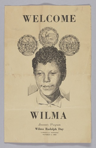 Image for Souvenir program for Wilma Rudolph Day