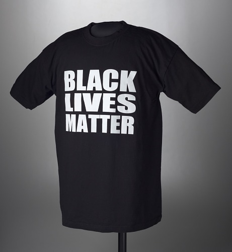 Image for Black t-shirt printed with