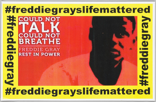 Image for Flier in memory of Freddie Gray