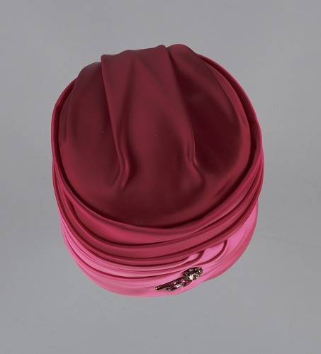 Image for Pink turban style hat and scarf from Mae's Millinery Shop