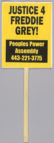 Image for Placard reading