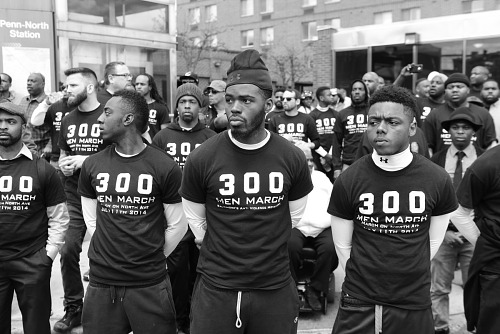 Image for Digital image of members of 300 Men March standing together