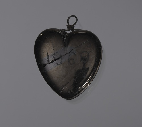 Image for Anthracite coal heart-shaped pendant attributed to C. Edgar Patience