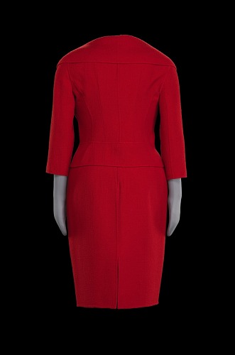 Image for Red suit worn by Oprah Winfrey during the car giveaway on The Oprah Winfrey Show