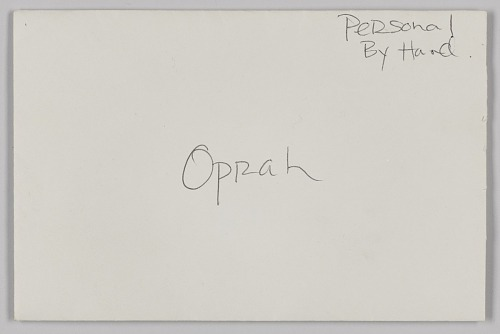 Image for Letter to Oprah Winfrey from L'Wren Scott with autographed envelope