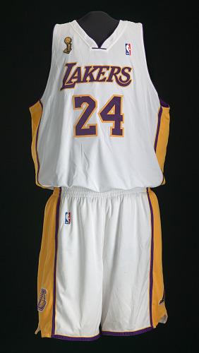 Los Angeles Lakers uniform worn in NBA Finals by Kobe Bryant ...
