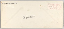 Envelope for a letter from Afro-American Newspapers to Rev. V. Stokes