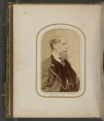 Image for Carte-de-visite portrait of Charles Dickens