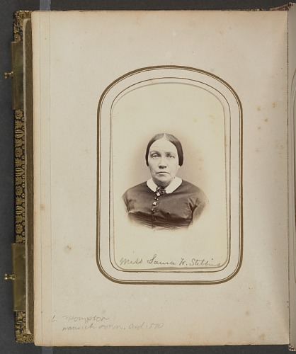 Image for Carte-de-visite portrait of Miss Laura W. Stebbins