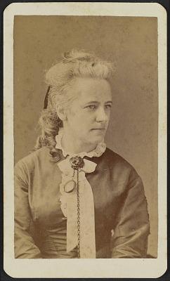Carte-de-visite portrait of Miss Thiele