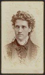 Carte-de-visite portrait of Miss Julia J. Thomas
