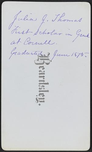 Image for Carte-de-visite portrait of Miss Julia J. Thomas