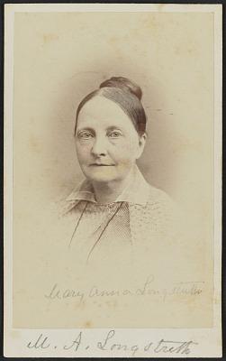 Carte-de-visite portrait of Mary Anna Longstreth