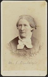 Carte-de-visite portrait of M. J. Burleigh