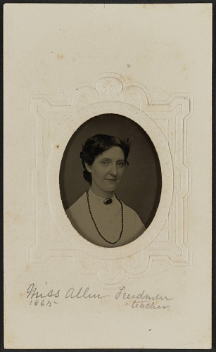 Image for Tintype portrait of Miss Allen