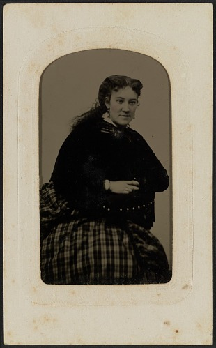 Image for Tintype portrait of Mrs. Annie Cox