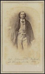 Carte-de-visite portrait of Col. Elmer Ephraim Ellsworth